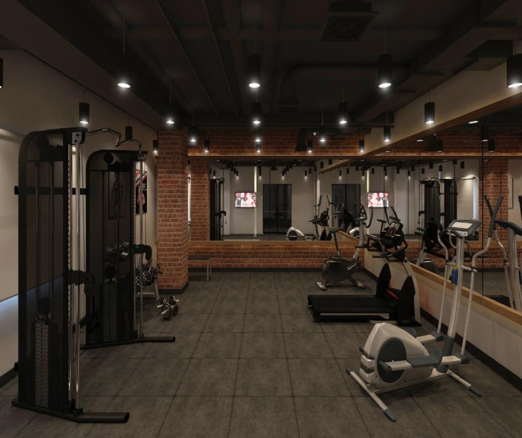 Fitness studio at Kickstart Gulberg 62 C2- flexible office