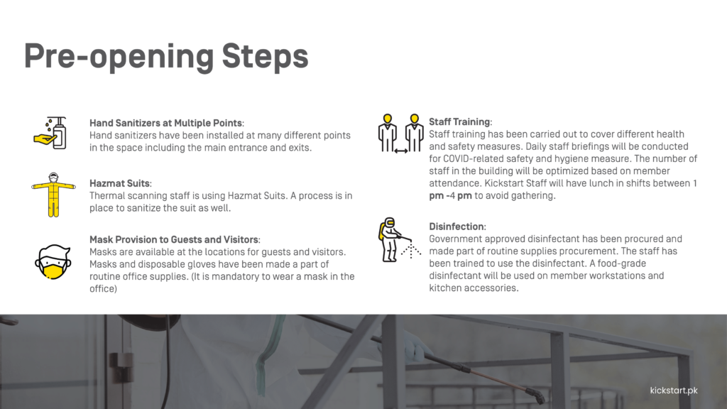 Steps to be Taken Before Opening the Office