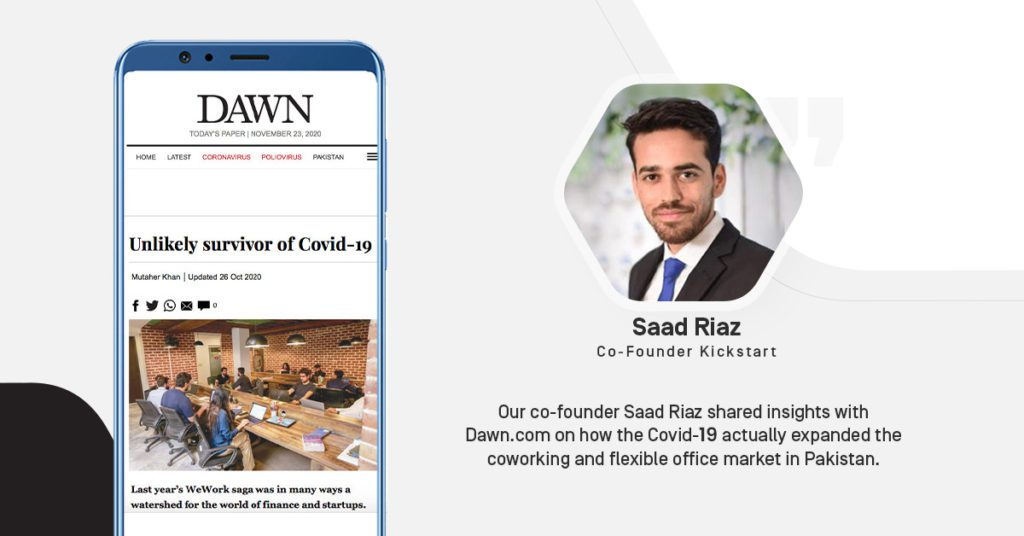 Kickstart Coworking Space - Saad Riaz - Co-founder